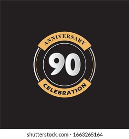90 Years Anniversary Celebration Logo Vector Template Design