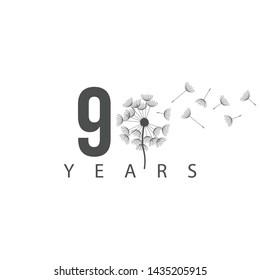 90 Years anniversary design template