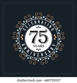 90 years anniversary design template. Vector and illustration. celebration anniversary logo. classic, vintage style