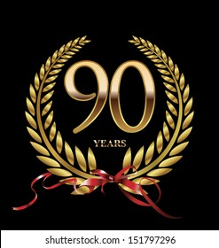 90 years anniversary laurel wreath