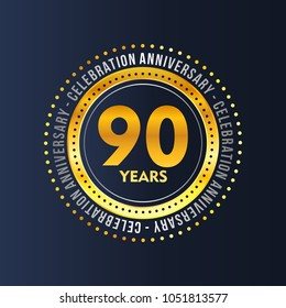 90 years of celebrations vector