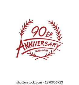 90 years design template. 90th vector and illustration.