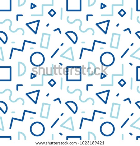 90 S Pattern Line Blue Stock Vector (Royalty Free) 1023189421