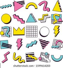 90's Pop Memphis Design Elements