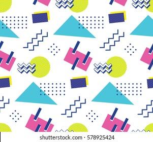 90's style seamless pattern