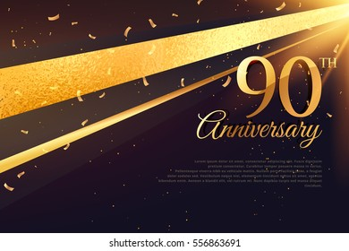 90th anniversary celebration card template