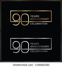 90th years anniversary celebration background