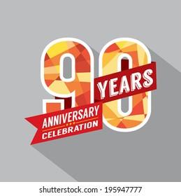 90th Years Anniversary Celebration Design