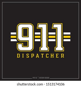 911 Dispatcher gold and white insignia, Emergency, 911 symbol