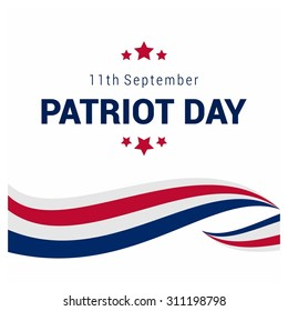 9/11 Patriot Day background, Patriot Day September 11, 2001 Poster Template, we will never forget you, Vector illustration for Patriot Day
