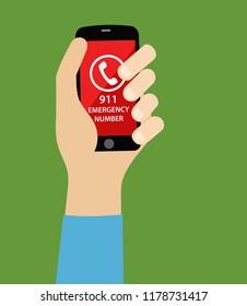 911 phone call, emergency number