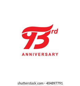 93 anniversary wave logo red