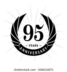 95 years anniversary. Elegant anniversary design. 95 years logo.
