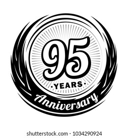 95 years anniversary. Anniversary logo design. 95 years logo.