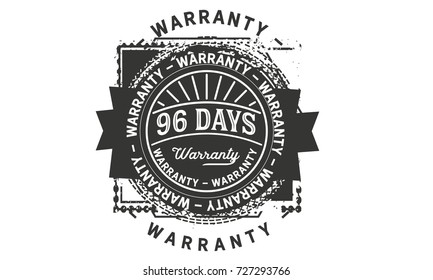 96 days warranty icon vintage rubber stamp guarantee