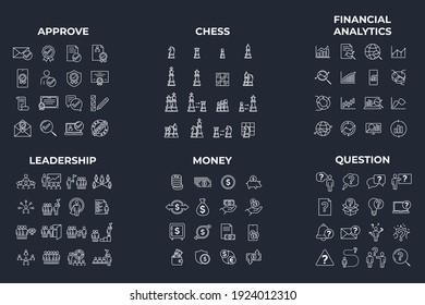 96 icon. approve. chess. financial analytics. leadership. money. question pack symbol template for graphic and web design collection logo vector illustration
