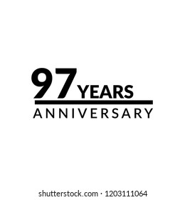 97 years anniversary celebration simple logo