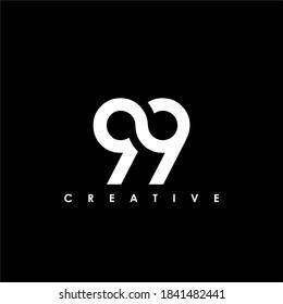 99 Letter Initial Logo Design Template Vector Illustration