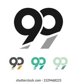 99 Logo, 99 Marketing Logo Icon Illustration