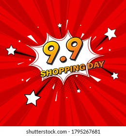 9.9 Sale Online Shopping discount. Flyer Banner design for marketing