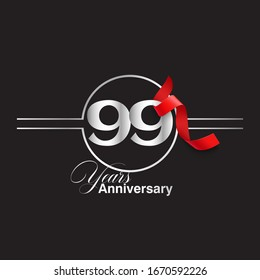 99 Year Anniversary celebration Vector Template Design Illustration