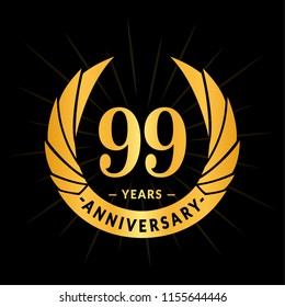 99 years anniversary. Elegant anniversary design. 99 years logo.