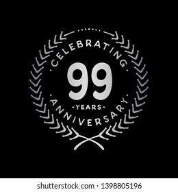 99 years design template. 99th vector and illustration.