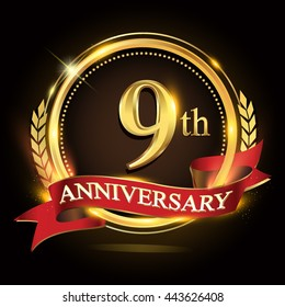 9th Anniversary Images Stock Photos Vectors Shutterstock