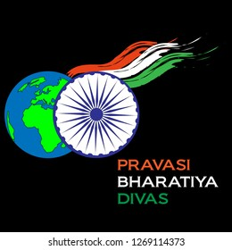 9th January Pravasi Bharatiya Diwas/NRI day illustration vector image