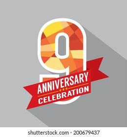 9th Years Anniversary Celebration Design