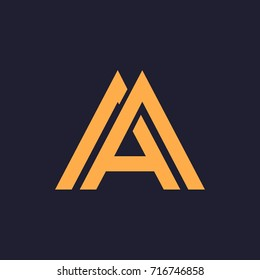 A, AA, AM letters logo monogram
