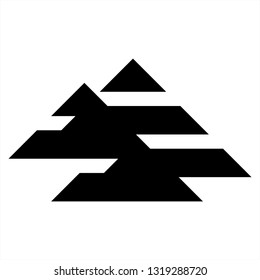 A, AAA initials geometric letter company logo