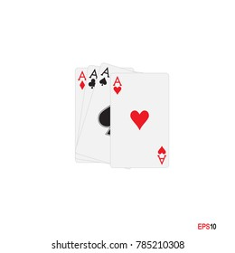 A. Ace. Poker Card.