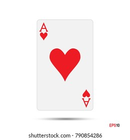 A. Ace. Poker Card.