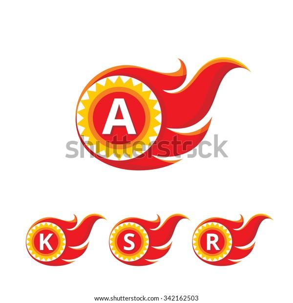 K S R Letter Vector Logo Stock Vector Royalty Free 342162503