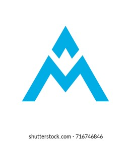 A, AM letters logo monogram
