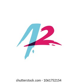 A2 42 letter number monogram overlap overlapping logo style