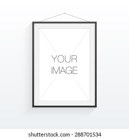 A4 / A3 format frame design for your image or text, minimal abstract eps 10 vector illustration