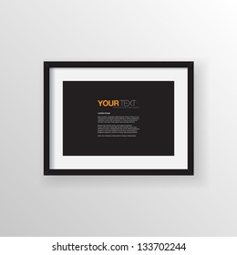 A4 / A3 Format paper design vector with text, picture frame and shadow on a wall vector background design for your content
