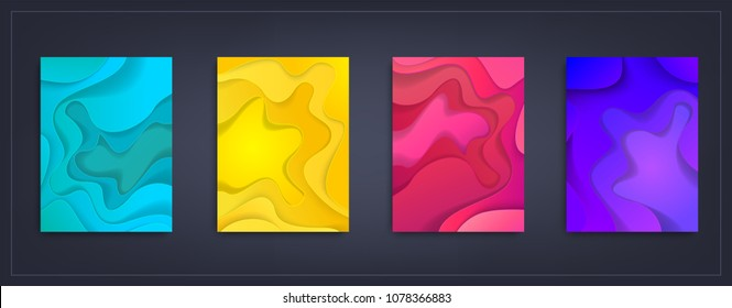 a 4 abstract color 3 d paper art stock vector royalty free
