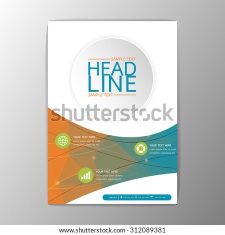 a 4 abstract cover brochure background business stock vector