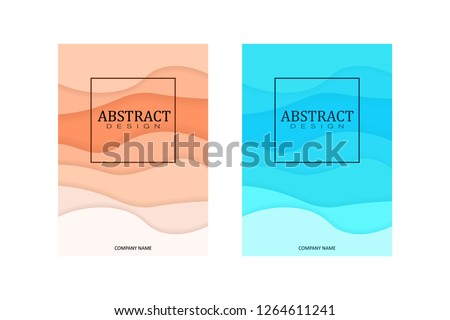 A4 Art Wavy Book Cover Design Template. Good for Portfolio, Brochure, Annual Report, Flyer, Magazine, Academic Journal, Website, Poster, Monograph, Corporate Presentation Vector Illustration.
