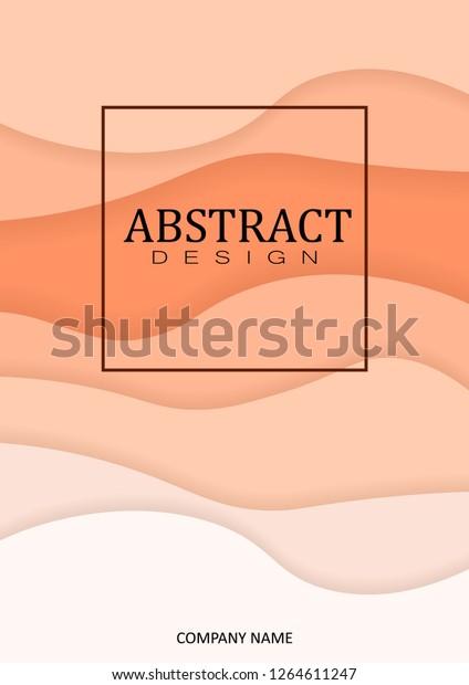 A4 Art Wavy Book Cover Design Template. Good for Portfolio, Brochure, Annual Report, Flyer, Magazine, Academic Journal, Website, Poster, Monograph, Corporate Presentation Vector Illustration.