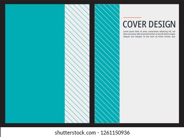 A4 book cover template. Modern Vector Illustrator Design