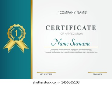 A4 certificate template with luxury pattern,diploma,Vector illustration