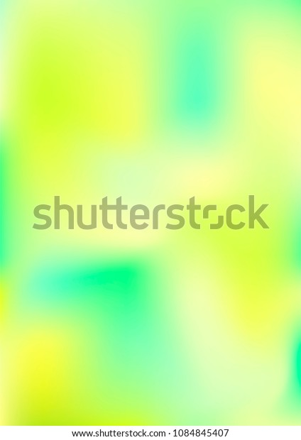 A4 Classy, Stylish, Modern and Fashionable Green Yellow and Blue Gradient Background