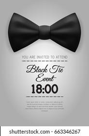 A4 Elegant Black Tie Event Invitation Template. EPS10 Vector