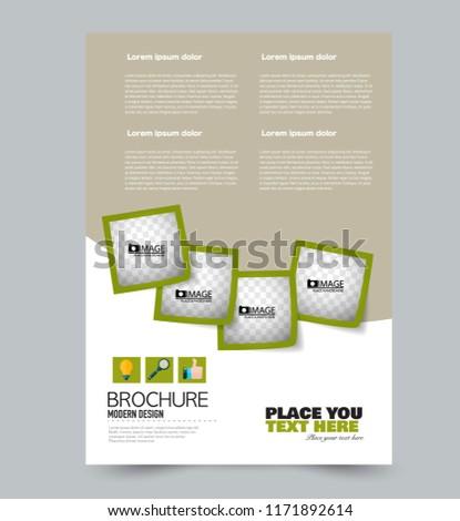 a 4 flyer template abstract brochure design stock vector royalty