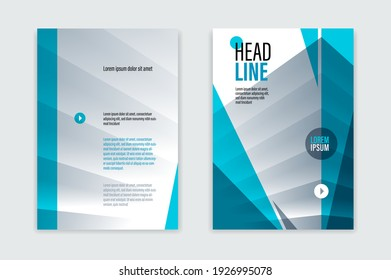 A4 format brochure or flyer for business advertising with front and back pager vector abstract design, modern leaflet or annual report, cover or presentation corporate trendy style.