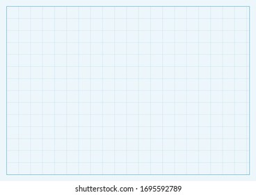 A4 format vector squared design concept with blue lines structure pattern illustration.  Editable lines of checkered field. Horizontal oriented pattern background made in proportional size.